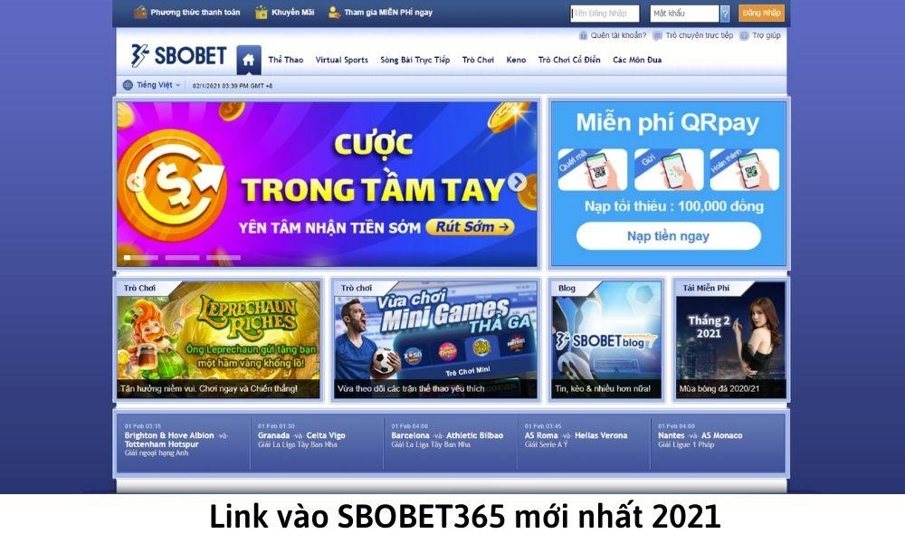 Link vào SBOBET365 mới nhất 2021